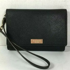 Kate Spade Black Saffiano Leather Wallet Pouch